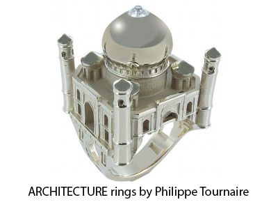 ARCHITECTURE rings by Philippe T