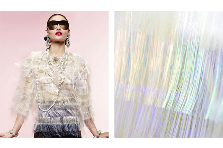Asymmetrical knitwear and glistening beads 3